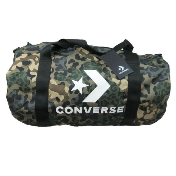 Converse Sport Camo Graphic Barrel Duffel Bag NWT